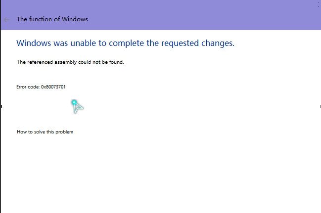 Cannot change Windows functionality, Intel driver assistant cannot be used, open error Yeio_210
