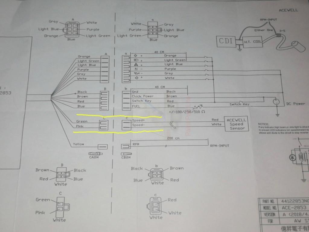 OEM Speed Sensor - Acewell - BEP 3.0 Acewel10