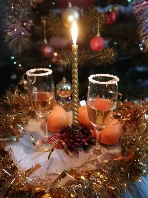 "Конкурс ""Новогодний переполох"" перед днем рождения. Тур 4. Новогодний бокал.  2021-010"