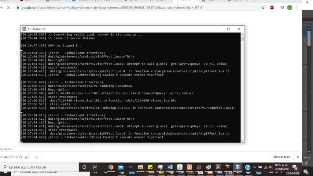 [Sistema] VIP System (Mock tfs 0.3.7/0.4.0 / Otx) Eror_v10
