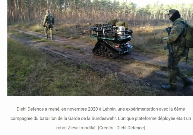 Robots terrestres pour transport d'équipements... Fob110