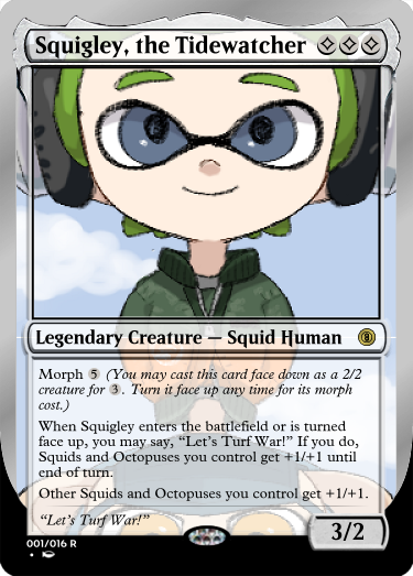 Secret Vault: Heroes of Squidkid Saga - A Silver-Bordered Card Set by The Author 001_sq12