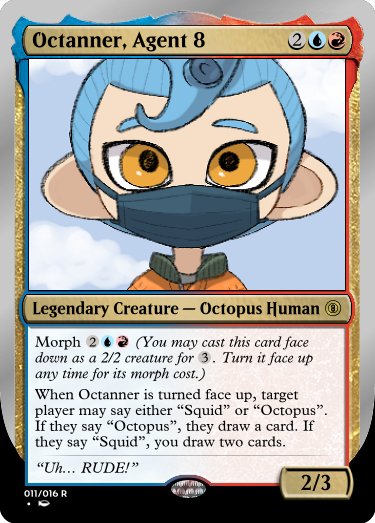 Secret Vault: Heroes of Squidkid Saga - A Silver-Bordered Card Set by The Author 011_oc11