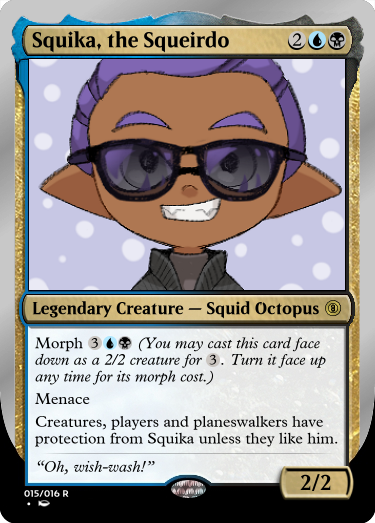 Secret Vault: Heroes of Squidkid Saga - A Silver-Bordered Card Set by The Author 015_sq11