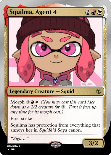 Secret Vault: Heroes of Squidkid Saga - A Silver-Bordered Card Set by The Author 016_sq12
