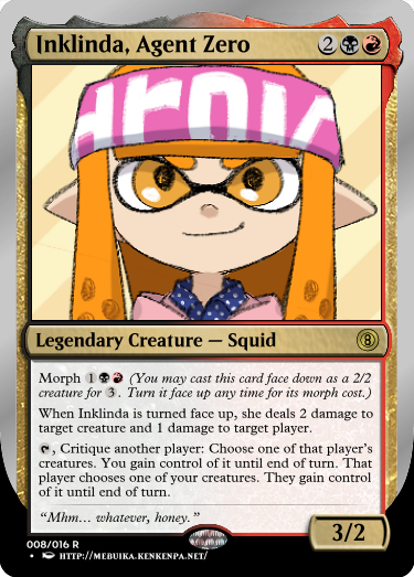 Secret Vault: Heroes of Squidkid Saga - A Silver-Bordered Card Set by The Author 08_ink10