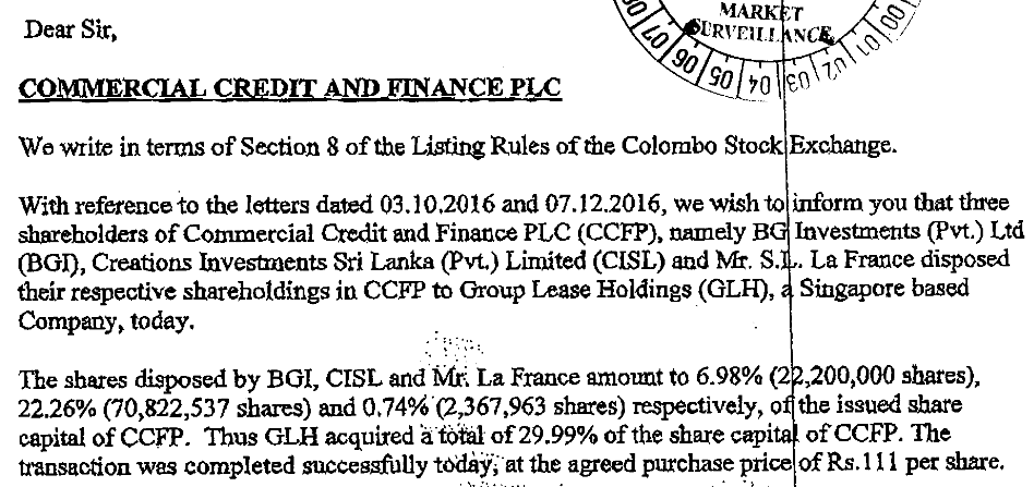 COMMERCIAL CREDIT AND FINANCE PLC (COCR.N0000) - Page 21 Screen10
