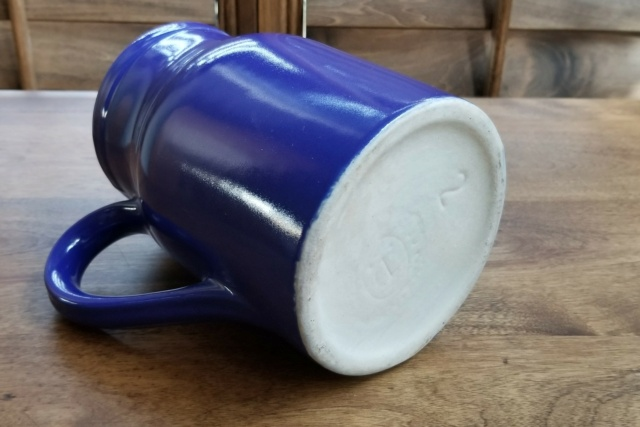 Blue & White Ceramic Pitcher- Anyone recognize this maker's mark? 20210310