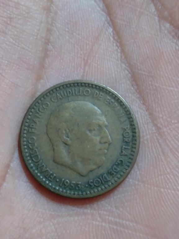 1 peseta 1953. Estado Español. ¿valor? 20210514