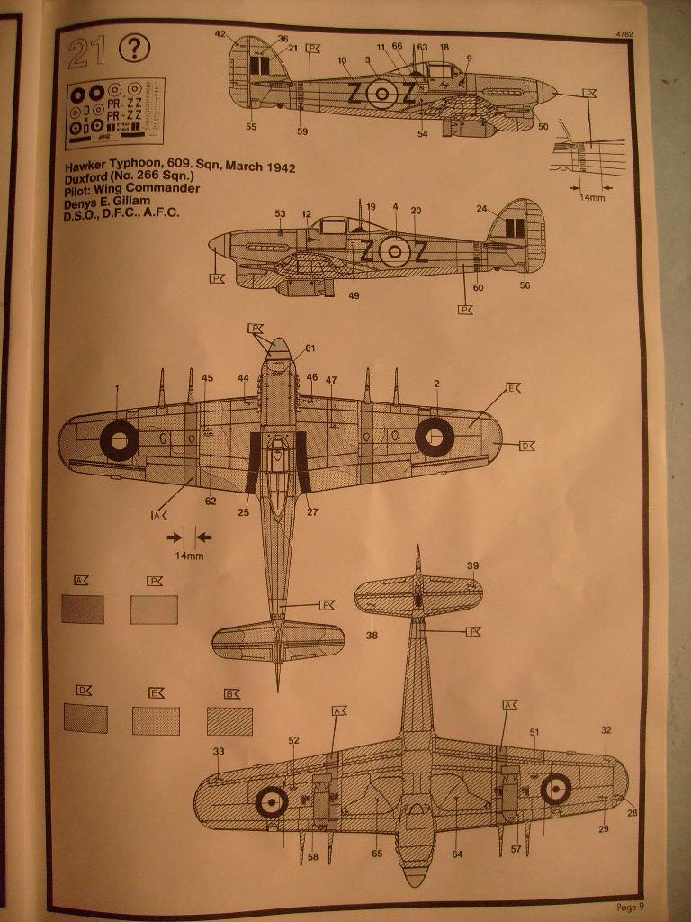Comparatif des Typhoons mk 1 B de diverses marque S7300376