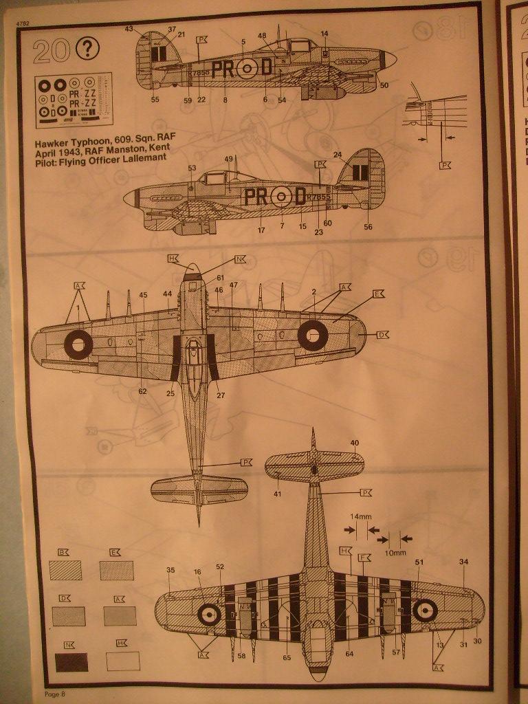 Comparatif des Typhoons mk 1 B de diverses marque S7300377