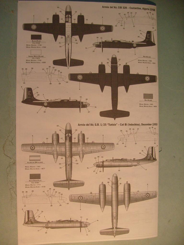 Multi-présentations ITALERI DOUGLAS A 26 C / K INVADER 1/72ème Réf 1259 & 1249 et REVELL DOUGLAS A 26B INVADER 1/72ème Réf 04310 S7300541