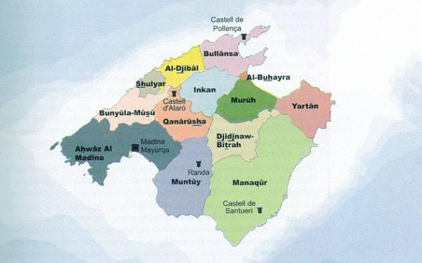 Carte de Mallorca sous la domination maure Carte_10