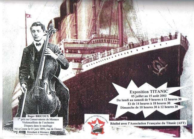 Exposition Titanic à Cosne en 2003 et peut-être 2012 Rogerb10