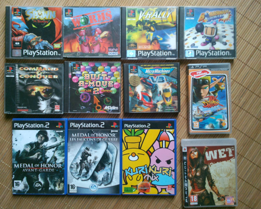 [VDS] Lot Sony, PS1, PS2, PS3, PSP Ps10