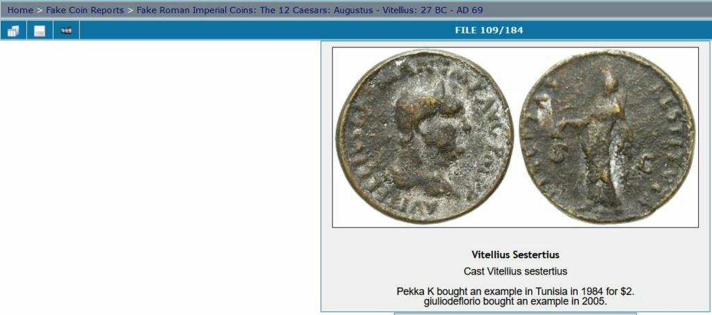 Monnaie de l'empereur Vitellius 999925