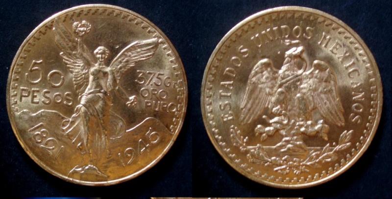 Mexico, 50 pesos, 1945 (y otras). 50_pes10