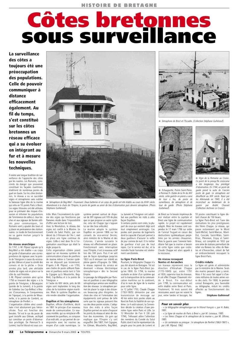[ Les sémaphores - divers ] LES SEMAPHORES DANS L'HISTOIRE - Page 2 Cotes_10