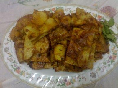 طاجين البطاطس السريع  بطريقة جديدة بالصور 15911510