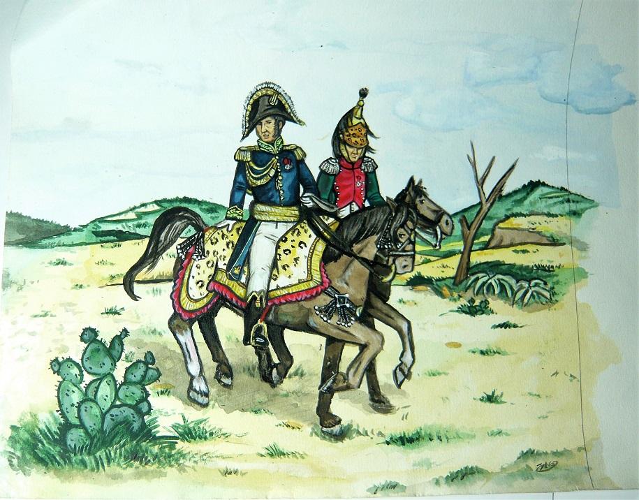 Croquis et peintures (1er Empire) de jeunesse... Bigarr10