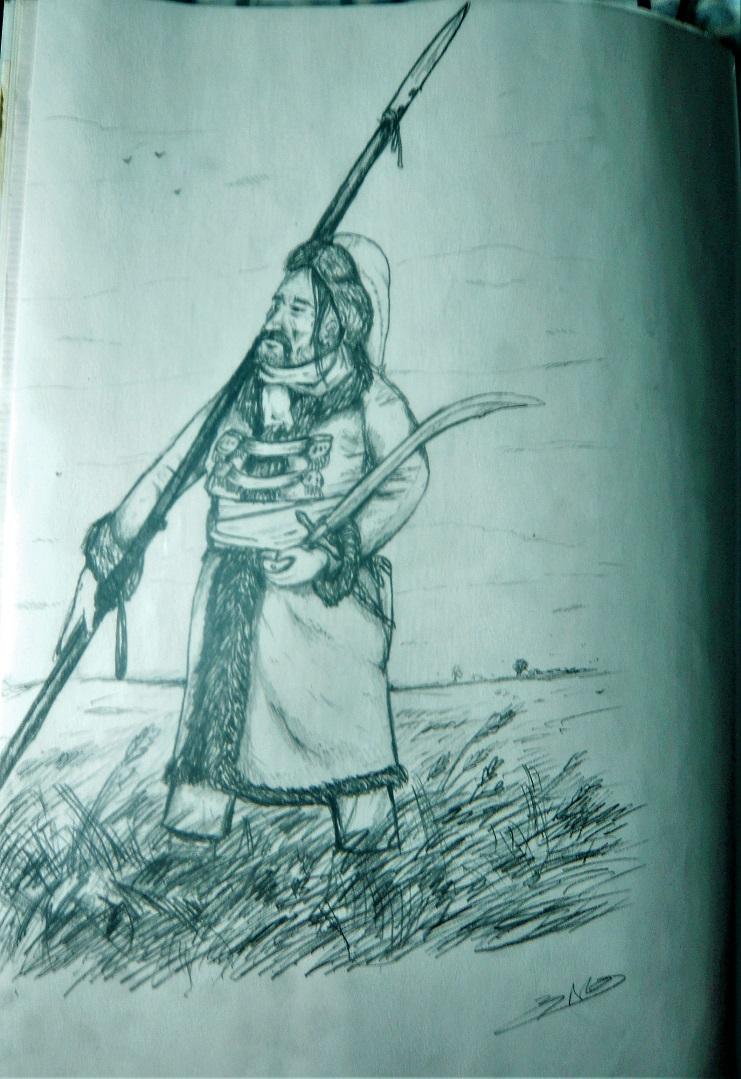 Croquis et peintures (1er Empire) de jeunesse... Cozak10