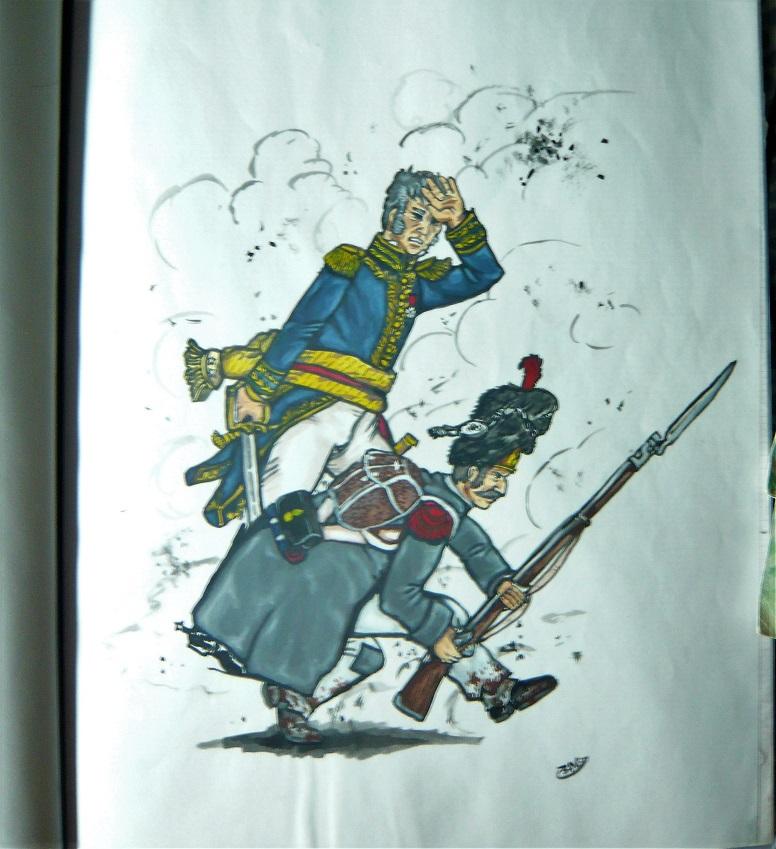 Croquis et peintures (1er Empire) de jeunesse... Mitrai10