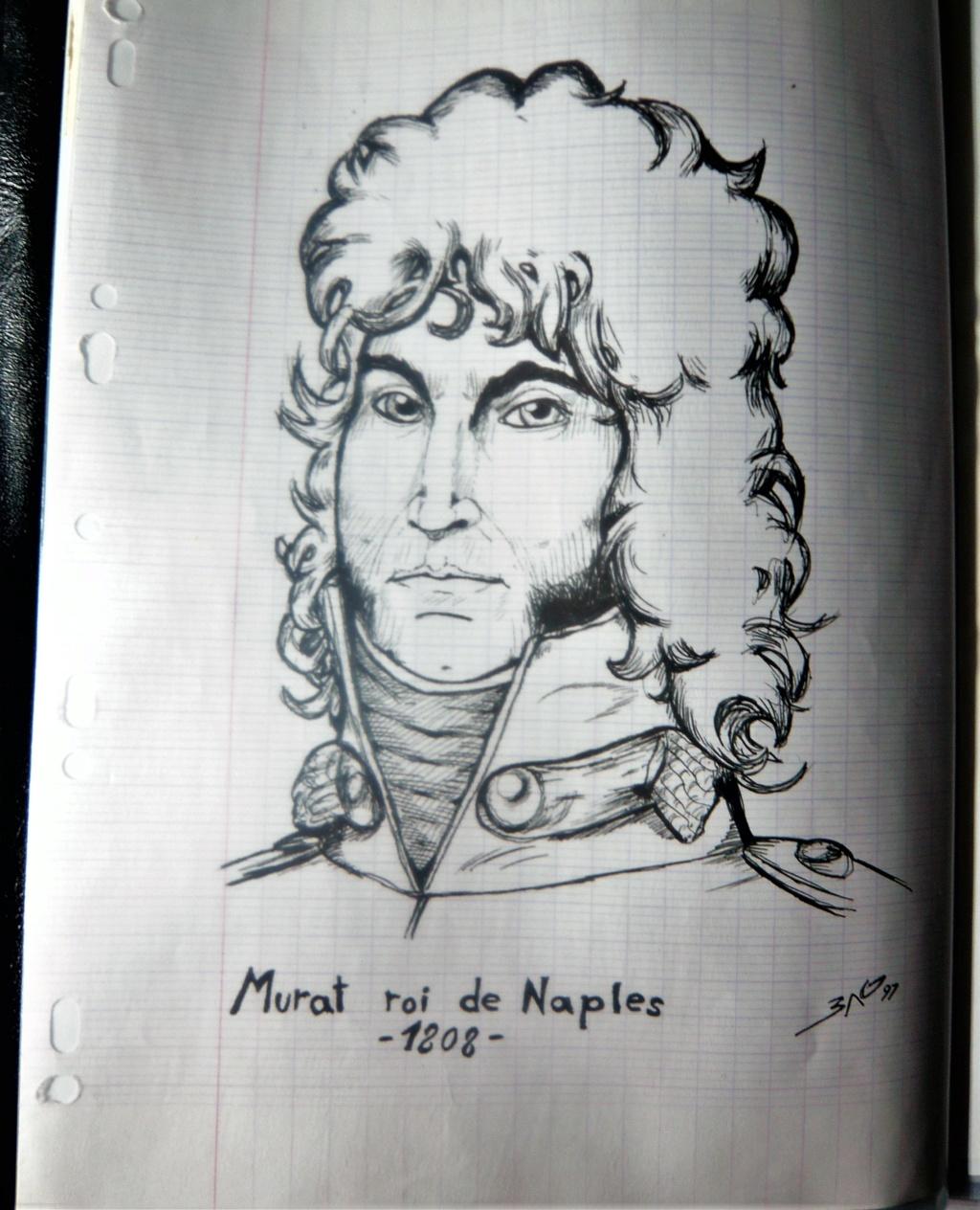 Croquis et peintures (1er Empire) de jeunesse... Murat10