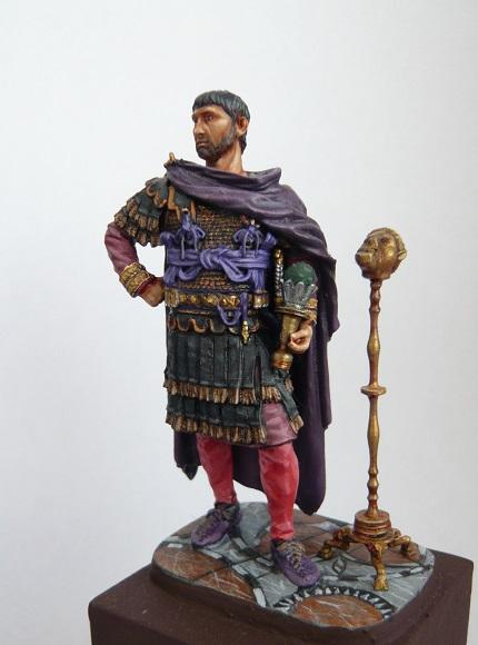 Vitrine de Trajan. Officier Républicain, Guerre d'Espagne 1937. P1320218