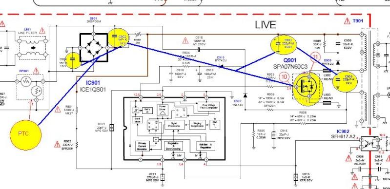 televisão MITSUBISHI MODELO TC -1410 ao ligar queima fusível 141010