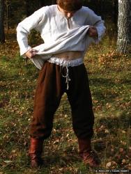 Повседневный костюм среднего достатка на 13-14 век. 00310