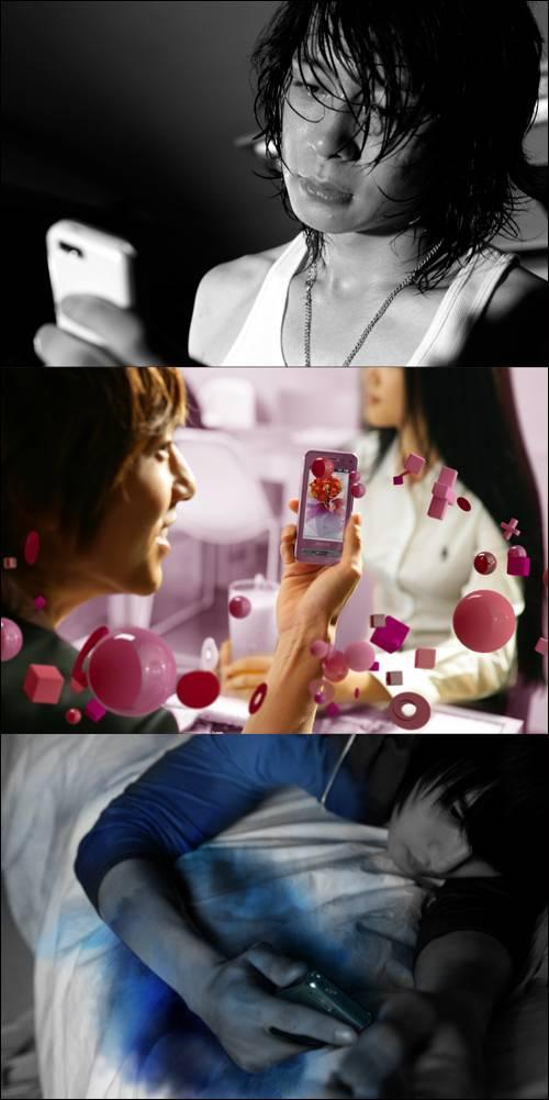 Jeon Ji-hyeon và DBSK trong một quảng cáo Photo510
