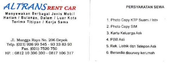 Rental Mobil (Rent Car) Altran11