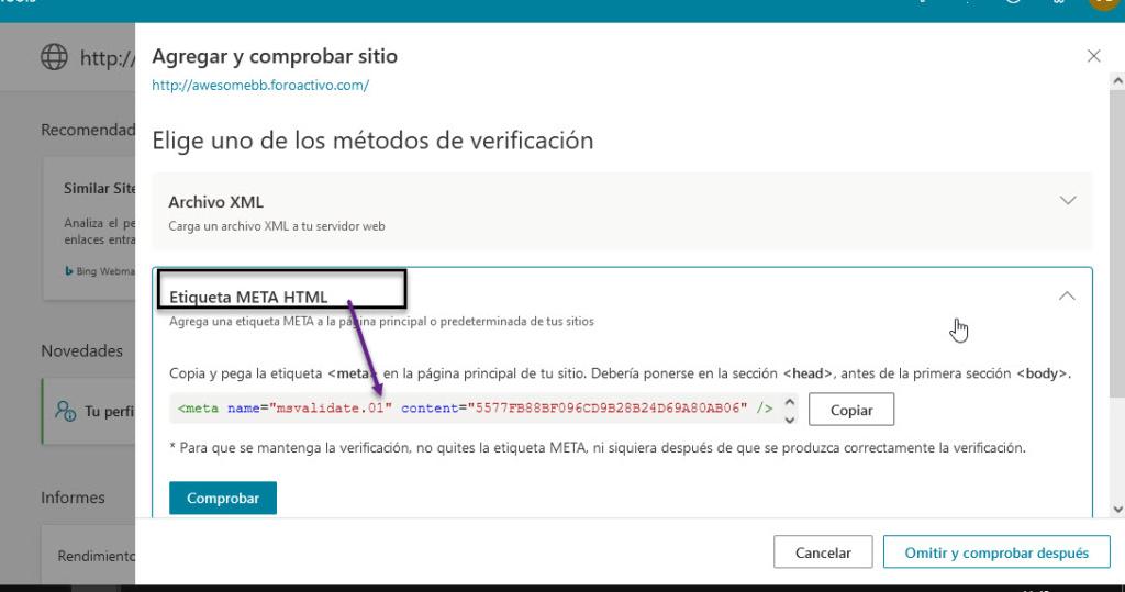 Indexar el foro en los principales buscadores Bing11