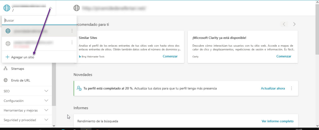 Indexar el foro en los principales buscadores Bing110