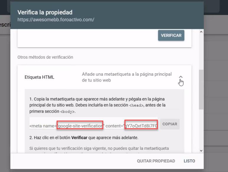 Indexar el foro en los principales buscadores Etique12
