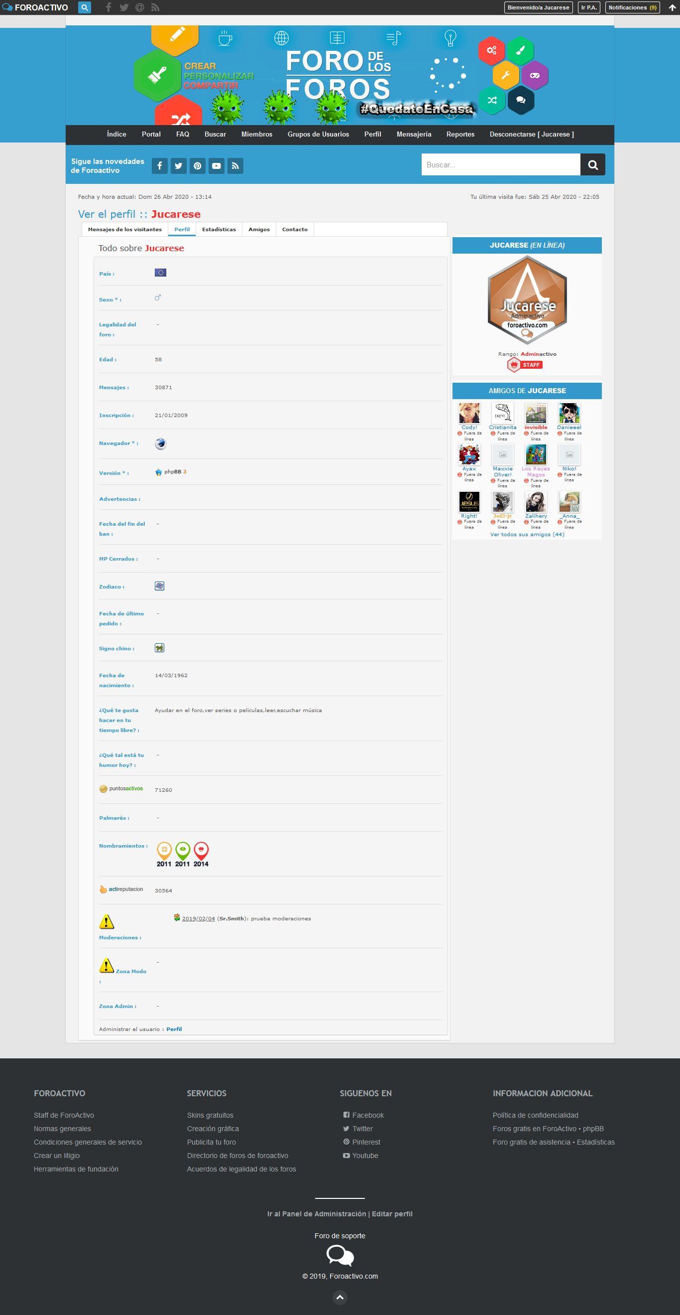 Nuevos links para administradores en el footer Firesh10