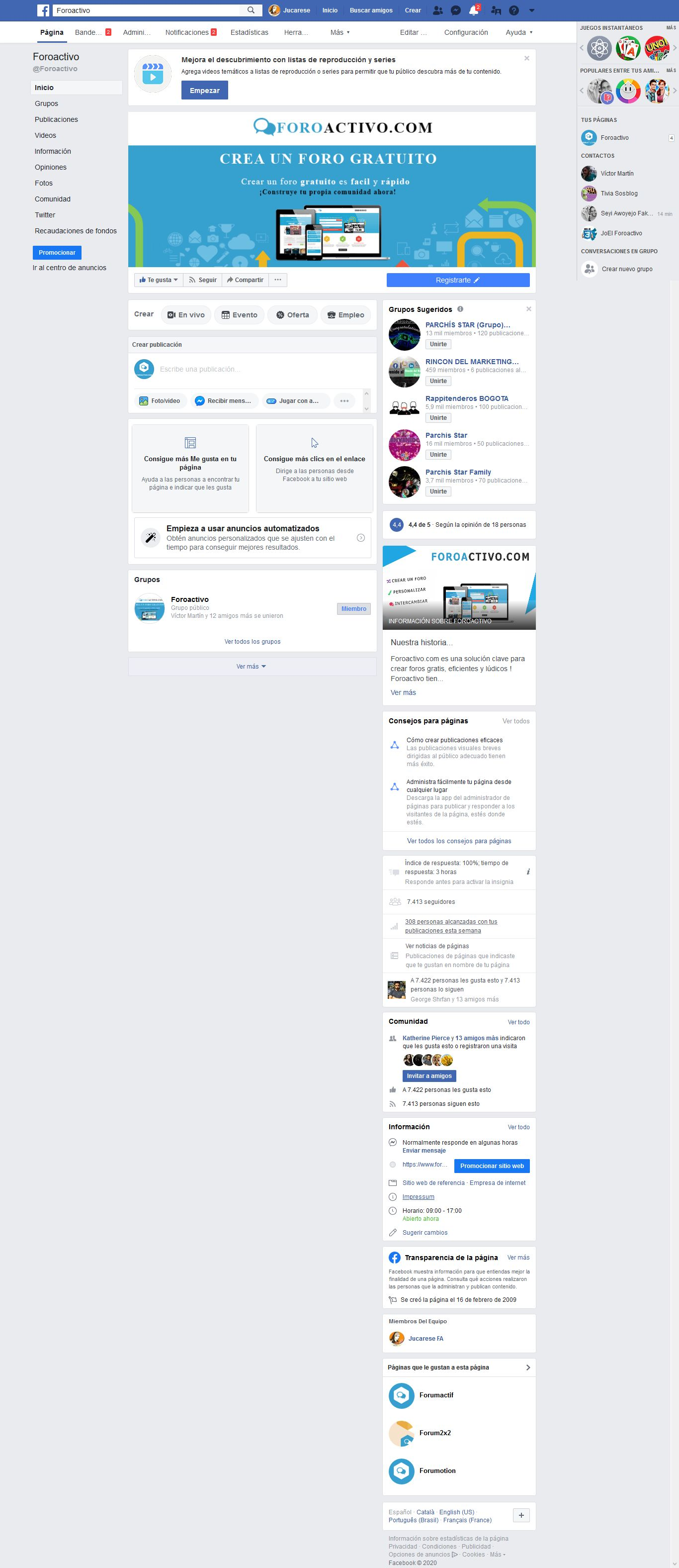 Barra FOOTER tipo FACEBOOK  Firesh11