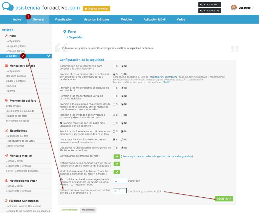 IP de usuarios, evitar la misma persona con diferentes IP haciendose pasar por otra persona. Firesh14