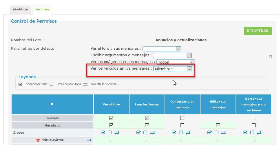 Usuarios sin registrar ven los enlaces en la versión móvil Permis11