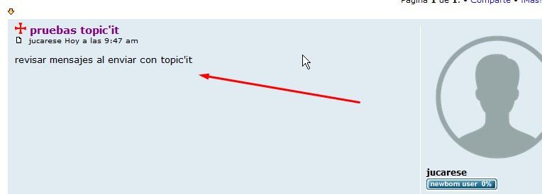 Mensaje de error al publicar en mi foro con Topic'it Screen69