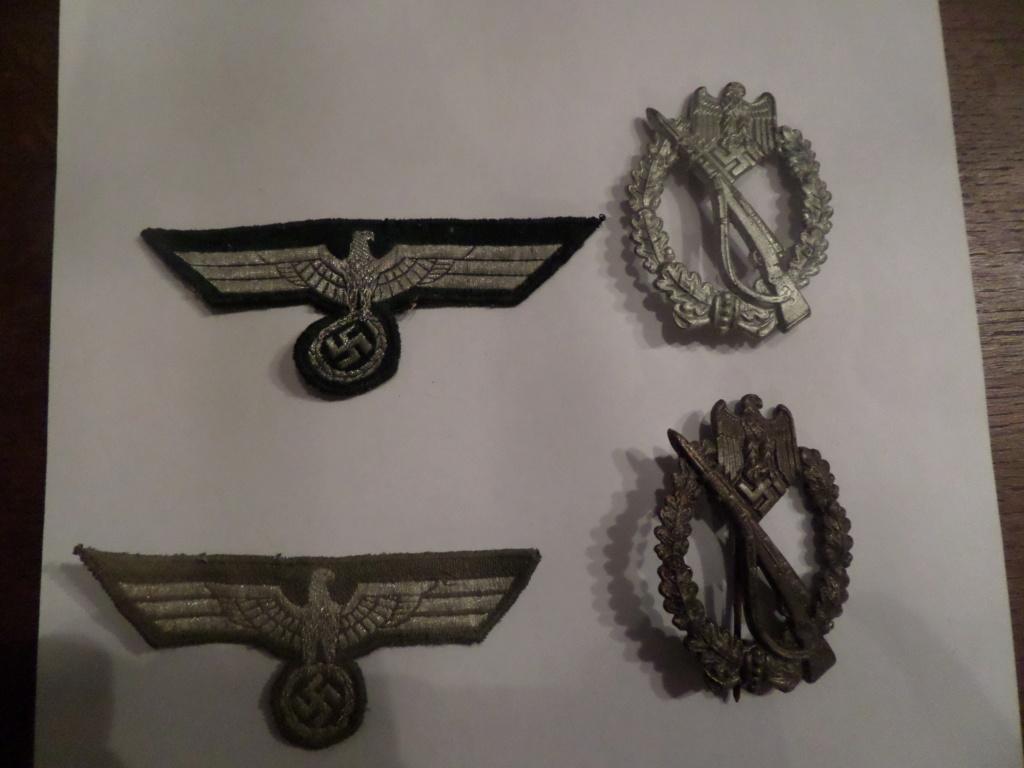 Insignes infanterie Sturmabzeichen et aigles vareuses Heer Sam_9622