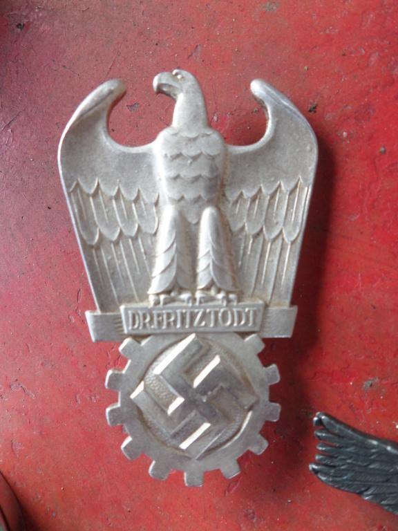 Insignes Allemands (Allgemeine Sturmabzeichen, Prix Dr. Fritz Todt, Aigle luft Sam_9829