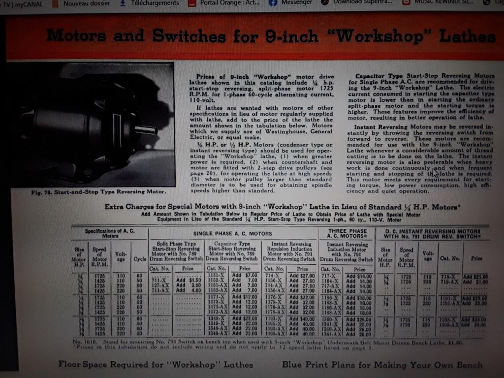 Quel moteur 220v sur tour SOUTH BEND 9 inch? - Page 3 16102211