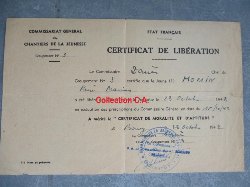 Le certificat de moralité et d'aptitude des Chantiers de Jeunesse (Régime Vichy) Img_6322