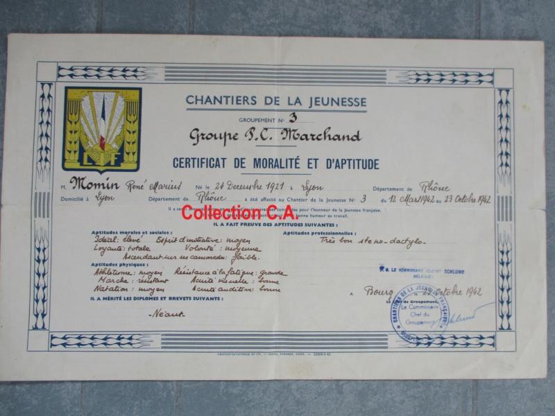 Le certificat de moralité et d'aptitude des Chantiers de Jeunesse (Régime Vichy) Img_6323