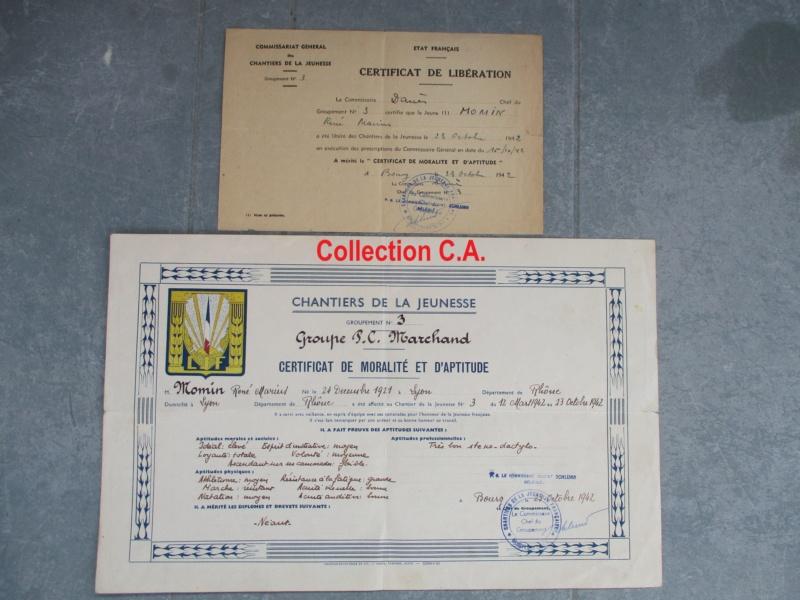 Le certificat de moralité et d'aptitude des Chantiers de Jeunesse (Régime Vichy) Img_6324