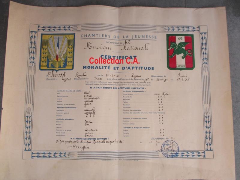 Le certificat de moralité et d'aptitude des Chantiers de Jeunesse (Régime Vichy) Img_6326