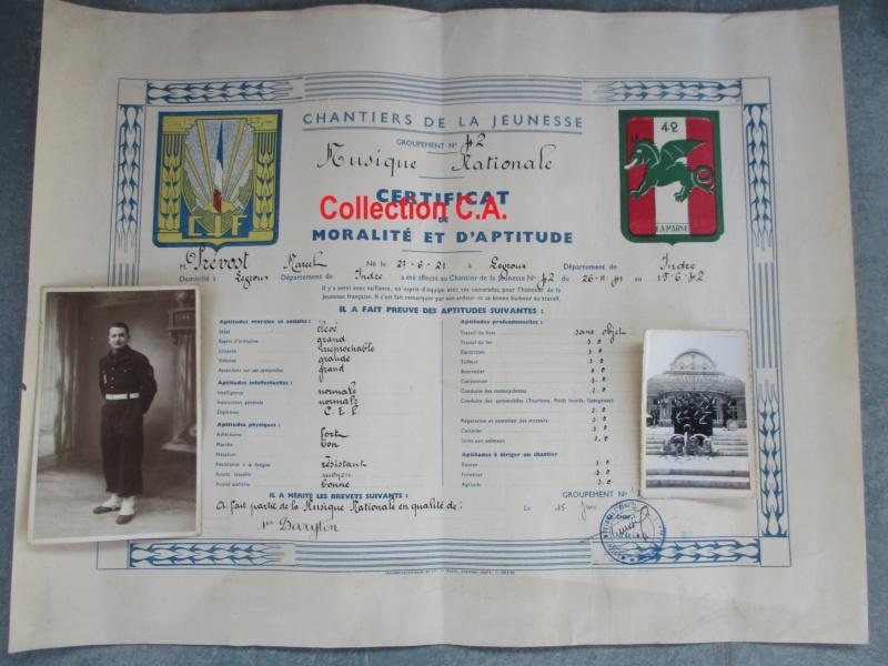 Le certificat de moralité et d'aptitude des Chantiers de Jeunesse (Régime Vichy) Img_6327