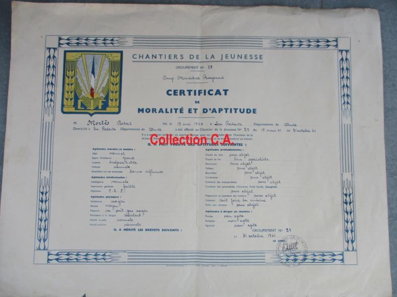 Le certificat de moralité et d'aptitude des Chantiers de Jeunesse (Régime Vichy) Img_6330