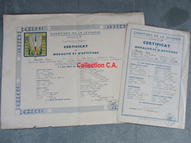Le certificat de moralité et d'aptitude des Chantiers de Jeunesse (Régime Vichy) Img_6331
